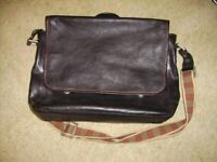 Hidedesign - black leather satchel/ briefcase with shoulder strap perfect condition never used