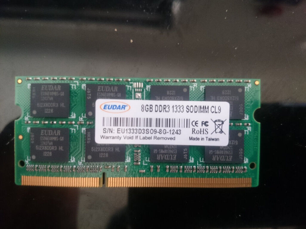8gb 1x8 Ddr3 Sodimm Laptop Ram Memory 1333mhz In Woodley