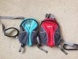 X2 little life rucksacks with reins Twins. As new