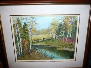 "L. M. Spears ""Country Scene"" Oil Painting"