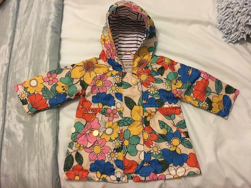 Girl flower Rain coat 3-6 Months