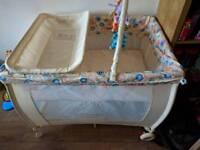 Babystart deluxe travel cot - like new