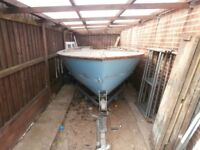 Boat and trailer - Boat is for river and is an unfinished project