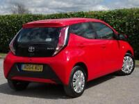 TOYOTA AYGO 1.0 VVT-I X-PLAY 5d LOW MILEAGE, £0.00 A YEAR ROAD TAX (red) 2015