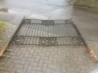 heavy set of gates for driveway or garden with posts