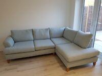 Corner Sofa (DFS Capsule Collection - Light Blue)