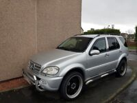 Silver Mercedes ML350 - Petrol and LPG