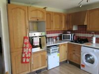 Wood effect kitchen base & wall units + Cooker extractor ( 15 in total )