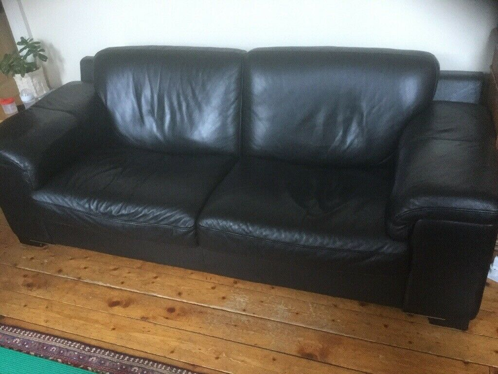 Brilliant Black Leather Sofa In Kelvinbridge Glasgow Gumtree Home Interior And Landscaping Oversignezvosmurscom