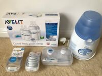 Avent IQ electric bottle warmer, new born starter set and other Avent accessories