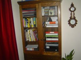 Bookcase, solid oak.