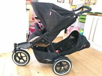 Phil and Teds pushchair - double