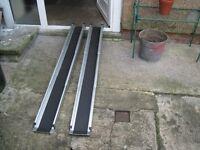 Portable non slip mobility ramps