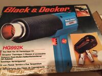 BLACK & DECKER HG992K HOT AIR GUN / PAINT STRIPPER KIT 2 HEAT SETTING