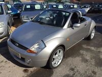 2005/55 FORD STREET KA 1.6 ICE,SILVER WITH BLACK LEATHER,LOW MILEAGE,LOOKS AND DRIVES WELL