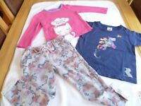 Large Bundle of Girl's Clothes, 26 items, ranging from 9-12 months up to 4-5 years.