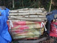 SEASONED HARDWOOD LOGS FOR WOOD BURNER