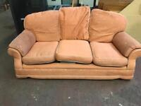 Orange 3 Seater & Arm Chair