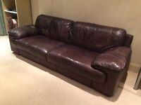 4-seater leather sofa