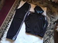 Adidas men's full tracksuit navy hoodies: M/ jogger: L used £15 set