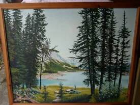 Large oil painting on board £7