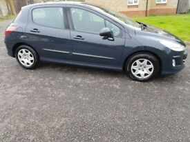 2008 Peugeot 308 1.6 HDi S 5dr Manual Low Mileage 30£RoadTax @07445775115 3 Months Warranty Included