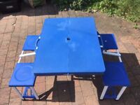 Fold Out Camping / Picnic Table and Seats