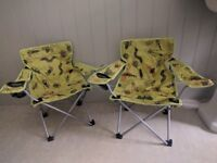 2 Kid's foldable canvas chairs