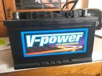 V-power car battery