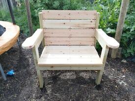 Garden Throne Wooden Armchair