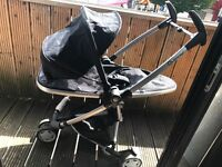 Used Quinny Zapp Xtra Rocking Black Standard Single Seat Stroller. From age 0-4 years.