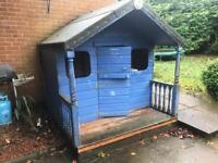 Child's play Wendy house shed