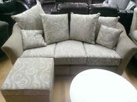 ex display corner ruby split sofa and boston grey 3+2 sofas massive reductions in price