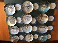 Display Plates showing famous sailing clipper ships