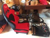 Logitech steering wheel & chair