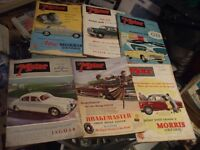 12 ISSUES THE MOTOR MAGAZINE 1952 - 1959