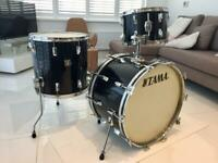"""Vintage Tama Imperialstar Drums + 12"""" Imperialstar Tom in Silver."""