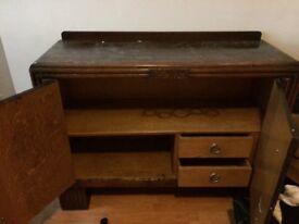 Large dark wood cabinet