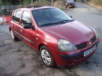 Renault Clio 1.2 Expression 5 Door New MOT only 95,000 miles from new