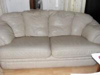 3 seat real leather sofa
