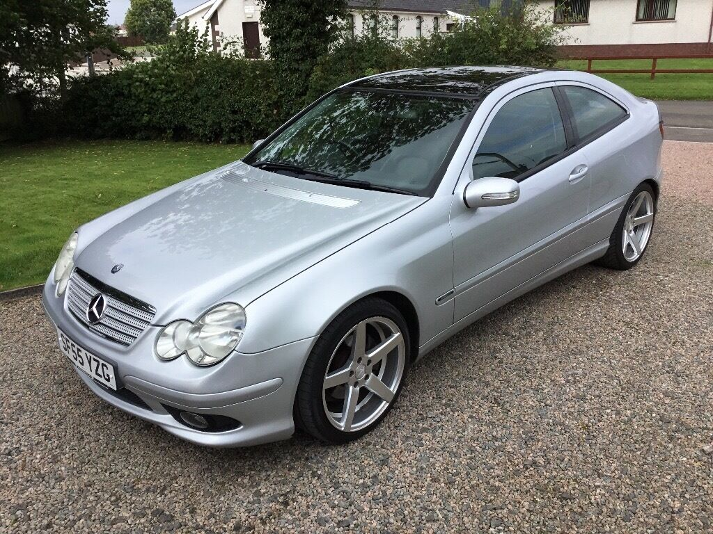 2005 mercedes c180 kompressor coupe long mot full leather in lisburn road belfast. Black Bedroom Furniture Sets. Home Design Ideas