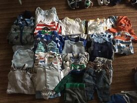 Newborn and up to 1 month boys clothes bundle