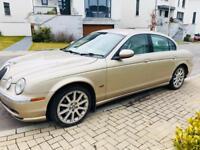 Automatic Jaguar S Type 2.5 V6 ...Full year MOT..FSH..Full Leather Seats..75k miles £1750