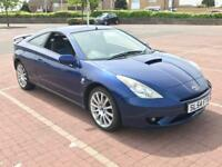 TOYOTA CELICA VVT-I - 1 YEAR MOT - BLUE BLACK LEATHERS