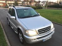 Mercedes ML automatic LPG (BI FUEL) full service history 1 year MOT 7 seater