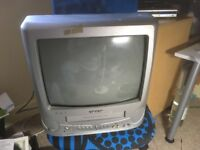 Portable TV with built in VHS video