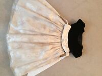 Cream and black party dress age 3