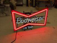 budweiser neon sign / bar sign