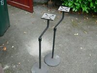 2 Adjustable speaker stands
