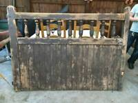 Heavy solid wood gate 6ft wide